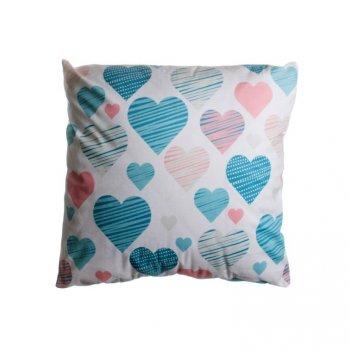 Povlak na polštář Love velká srdce - 45 x 45 cm