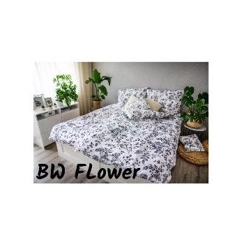 3 dílné ložní povlečení, Saten EMA BW Flower