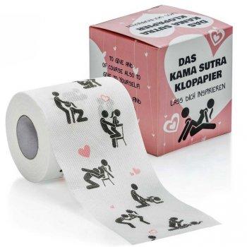 Důmyslný zábavný toaletní papír Kamasutra