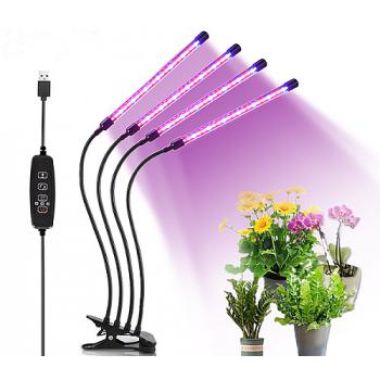 Domácí zahrádka s LED osvětlením, klipsnou a časovačem - 40W