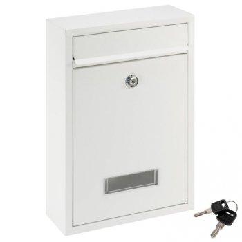 Poštovní nástěnná schránka ELI, ocelová, bílá, 2 klíče