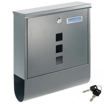 Poštovní schránka s přihrádkou na noviny, antracit, 2 klíče