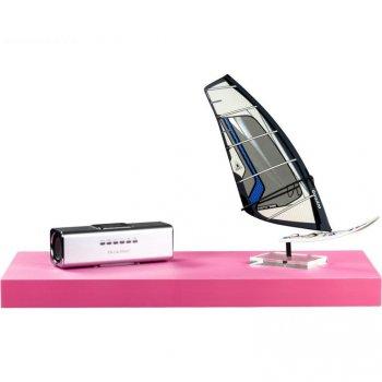 Stilista nástěnná police Volato, 50 cm, růžová