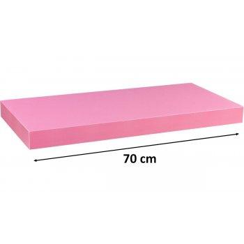 Stilista nástěnná police Volato, 70 cm, růžová