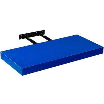 Stilista nástěnná police Volato, 80 cm, modrá