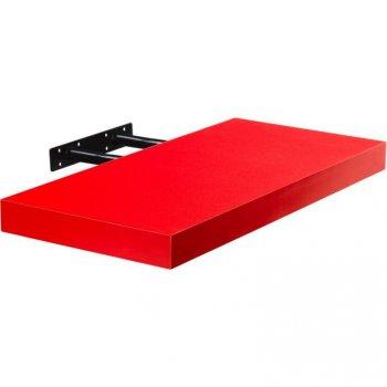 Stilista nástěnná police Volato, 30 cm, červená