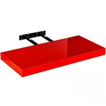 Stilista nástěnná police Volato, 30 cm, lesklá červená