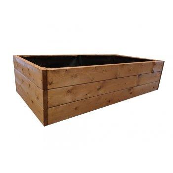 Dřevěný vyvýšený záhon Standard, 162 x 78 x 39 cm