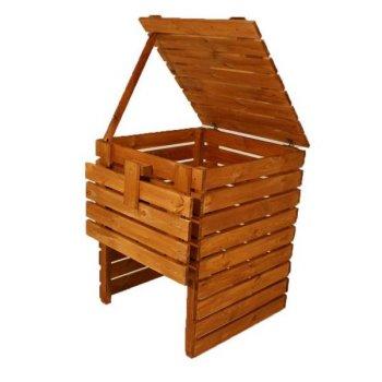 Zahradní dřevěný kompostér - 600l