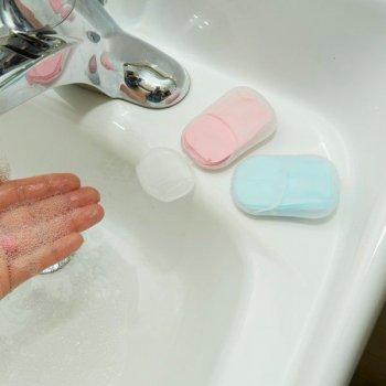 Cestovní papírové mýdlo - Modrá
