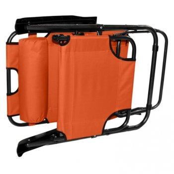 Skládací zahradní lehátko - oranžová