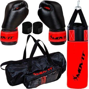 MOVIT Boxovací sada pro děti červená/černá