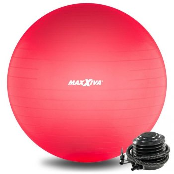 MAXXIVA Gymnastický míč Ø 75 cm s pumpičkou, červený