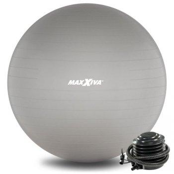 MAXXIVA Gymnastický míč Ø 55 cm s pumpičkou, stříbrný