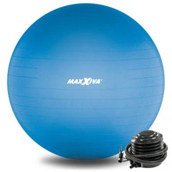 MAXXIVA Gymnastický míč Ø 65 cm s pumpičkou, modrý