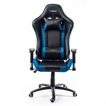 Kancelářská židle Nebraska - černá, modrá
