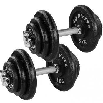 MOVIT® Sada litinových činek, 2 x 20 kg