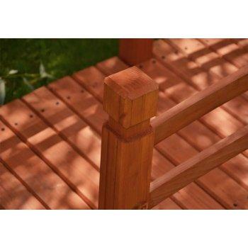 Dřevěný zahradní můstek Garth - 150 x 67 x 65 cm