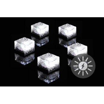 Sada solárního osvětlení skleněná cihla LED bílá, 5 ks