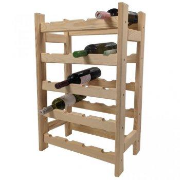 Dřevěný stojan na víno pro 20  lahví