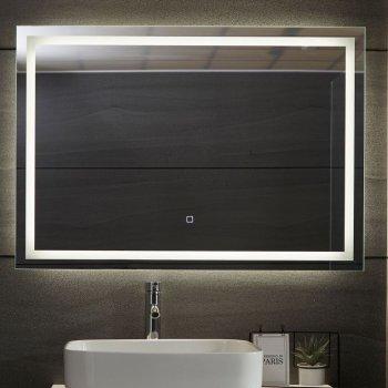 Aquamarin Koupelnové zrcadlo s LED osvětlením, 100 x 70 cm