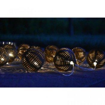 Solární osvětlení - RATTAN KOULE - 10 LED