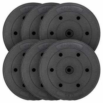 MAXXIVA Sada závaží 6 x 5 kg, cement, černá