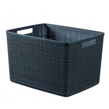 Košík Jute L -  tmavě šedá