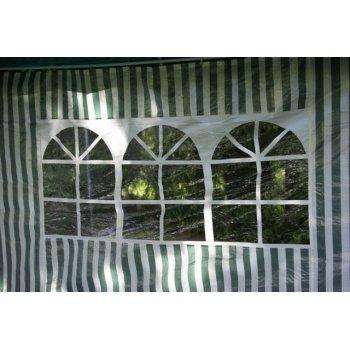 Sada dvou bočních stěn pro zahradní stan - bílá/zelená D00420