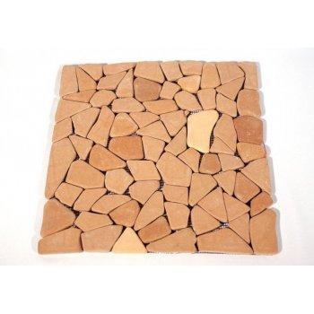 Mramorová mozaika Garth- červená / terakota obklady - 1x síťka D09668