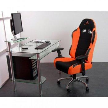 Kancelářská židle sportovní design - oranžová M01383