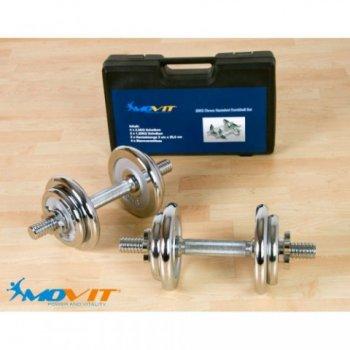 Činkový set MOVIT 20 kg - 2 činky chrom M01606