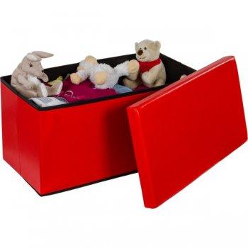 Skládací lavice s úložným prostorem - červená M06477