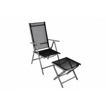 Hliníková skládací židle s nánožníkem D06351
