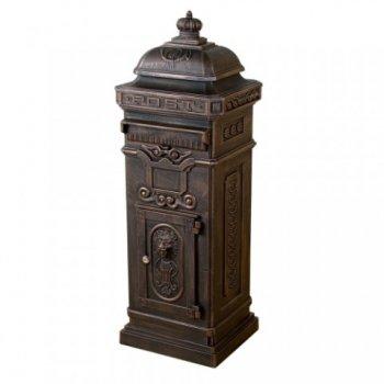 Dekorativní poštovní schránka antik - tmavá mosaz M01278