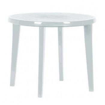 Zahradní plastový stůl LISA 90 cm bílá R06606