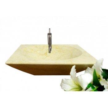 Kamenné umyvadlo - leštěný mramor krémové D00092