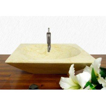 Kamenné umyvadlo - leštěný mramor krémové
