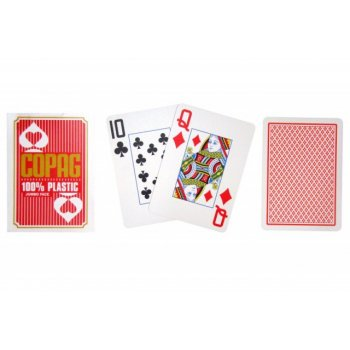 Poker karty Copag Jumbo 2 rohy Red TH02077