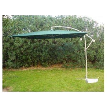 Čtvercový slunečník 8080 boční zelený 270 x 270 cm R07135