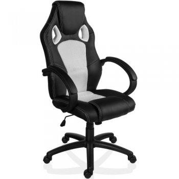 Otočná kancelářská židle BÍLÁ MX Racer M09505