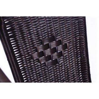 Sada 4 kusů polyratanových zahradních židlí Garth