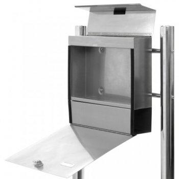 Ocelová poštovní schránka se stojanem