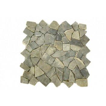 Mramorová mozaika Garth - šedá obklady 1 m2