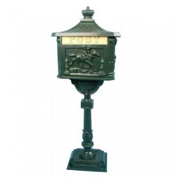 Ozdobná poštovní schránka - olivově zelená M01387