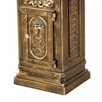 Poštovní schránka antik  světlá mosaz