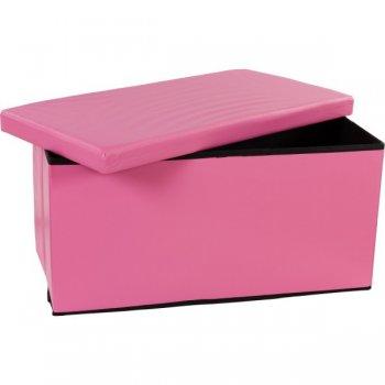 Skládací lavice s úložným prostorem - růžová M06479