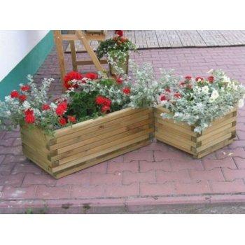 Dekorativní obdélníkový květináč velký R02704