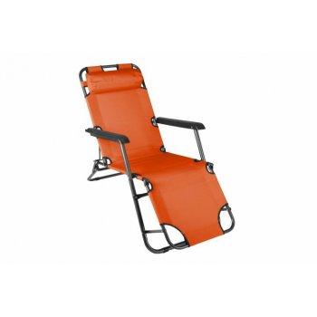 Skládací zahradní lehátko - oranžová D29464