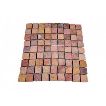 Mramorová mozaika Garth- červená obklady 1 m2 D01637